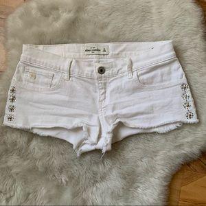 Abercrombie Kids White Denim Shorts Size 16